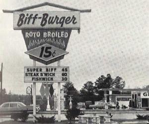 Biff burger 1960