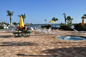 Boca Ciega Resort pool area & hot tub